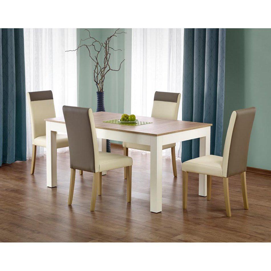 Комплект обеденный HALMAR (стол SEWERYN и стулья NORBERT белый)