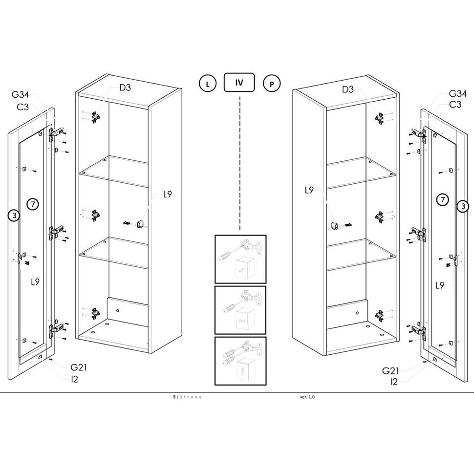 Инструкция по сборке витрин